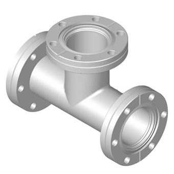 CF Tees-Two Flange Rotatable