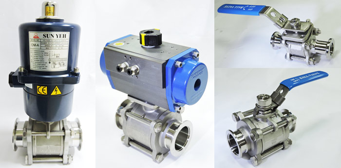 Ball valve used in vacuum industry.